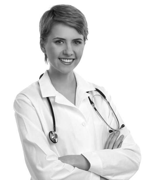 Friendly and smiling female doctor