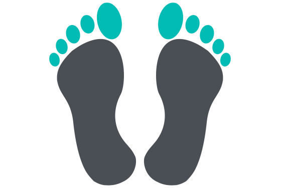 Illustration of a footprint