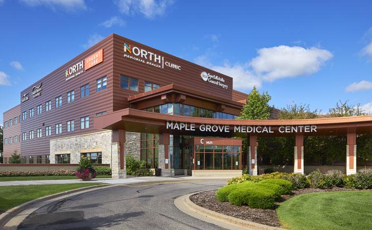 medical center exterior entrance