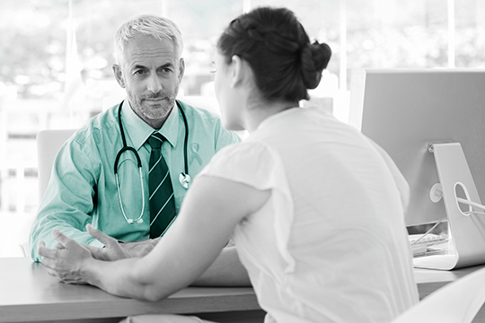 patient and doctor support consultation