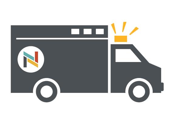 Illustration of North Memorial Health ambulance
