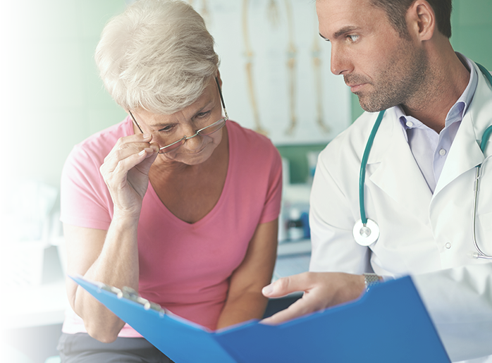 Cancer consultation between patient and doctor