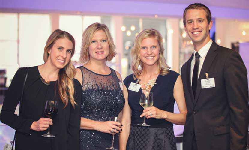 North Memorial Health team members smiling at the Foundation gala