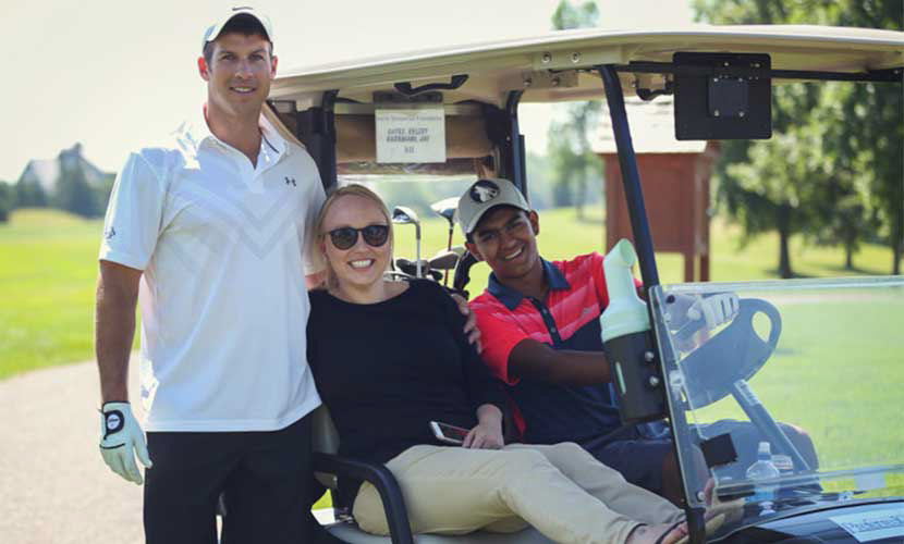 Three North Memorial Health team members at the annual golf tournament