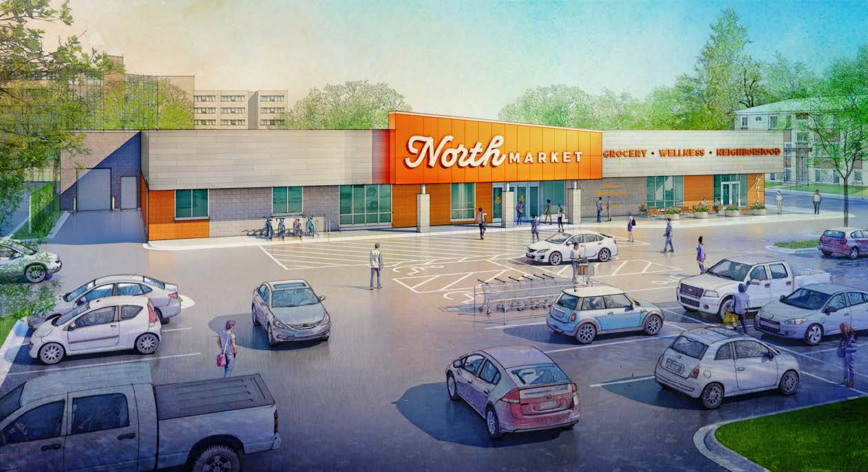North Market Front entrance rendering