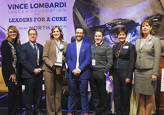 North Memorial Health receiving award at the Leaders For A Cure event