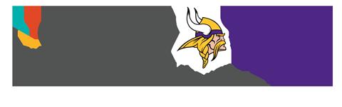 North Memorial Health and Vikings Logos
