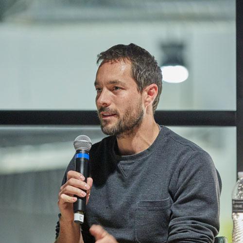 Dr. Adam vandijk with mic
