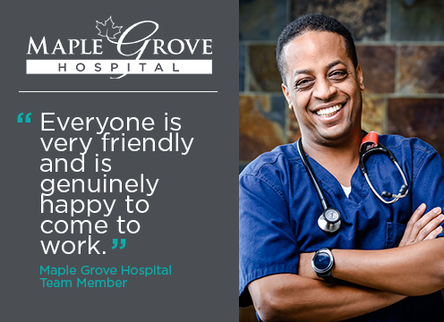 Maple Grove Hospital team quote