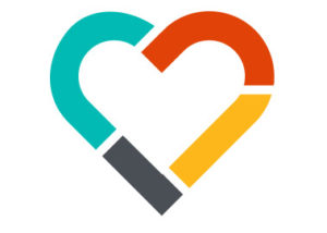 North Memorial Brand Colors Shaped Heart