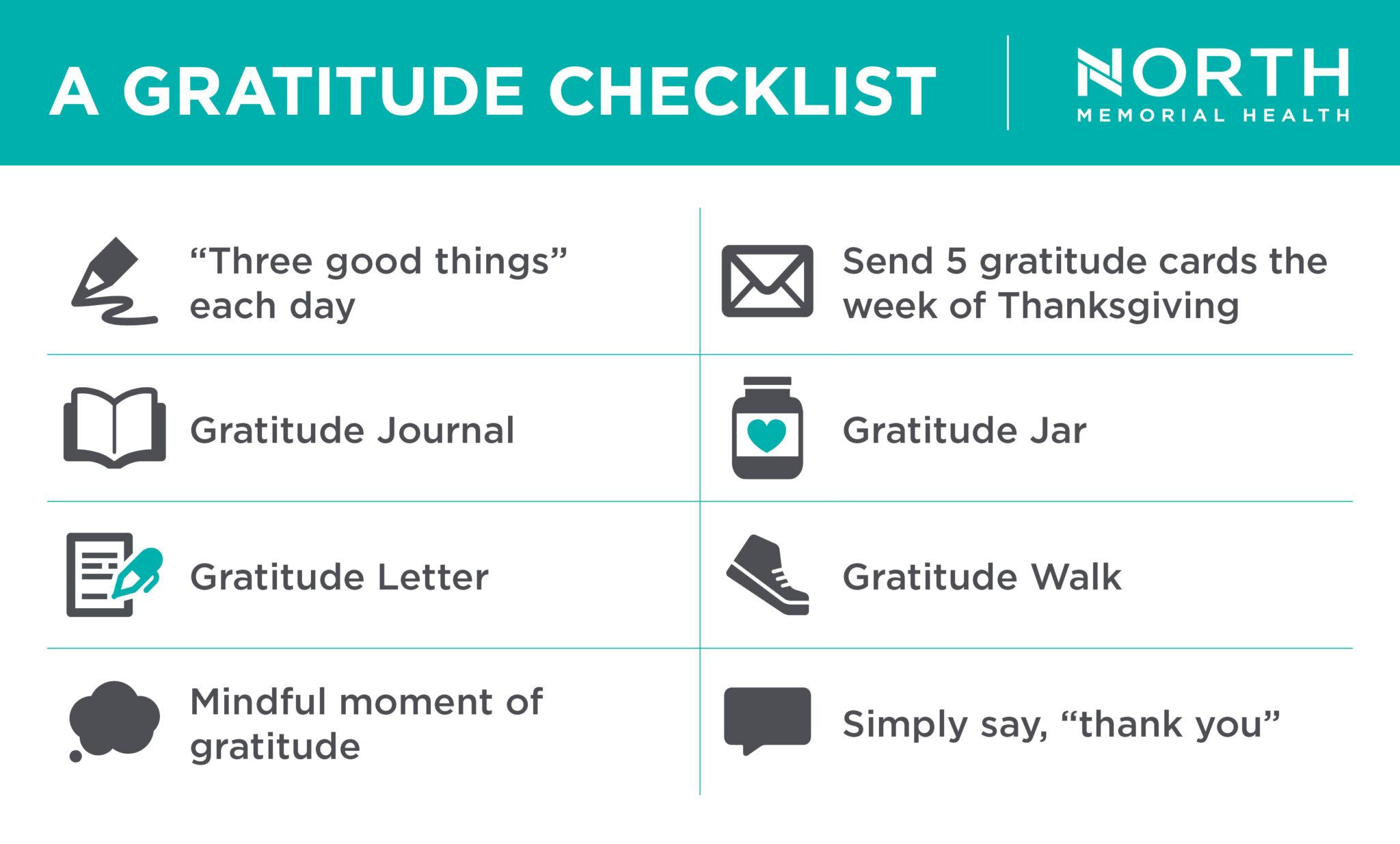 a gratitude checklist